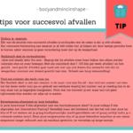 4 tips voor succesvol afvallen