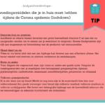 4 voedingsmiddelen moet je in huis hebben tijdens de Corona epidemie (lockdown)